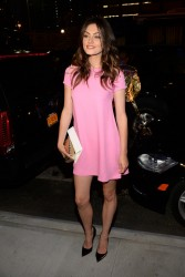 Phoebe Tonkin - Versus Versace Srping 2015 Fashion Show in NYC 9/7/14