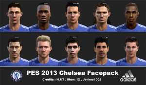 Download Chelsea Facepack For PES 2013