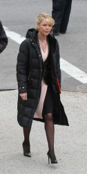 "Katherine Heigl filming ""State of Affairs"" in NYC *Black Nylons and Heels*"