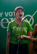 Lucy Lawless - Green Party election campaign event in Auckland 18.9.2014