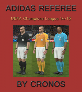 Download Adidas Referee Kits UEFA Champions League 14/15 by cRoNoS For PES 2014