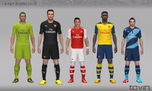 Download PES 2014 Kitset Arsenal 2014/15 by Tavin