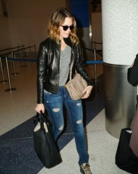 Mandy Moore - LAX Airport 9/26/14