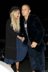 Ashlee Simpson - Arriving at Warwick Nightclub in Hollywood 10/1/14