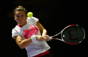 Simona Halep practices WTA Finals in Singapore on October 917 -18)-2014 x10