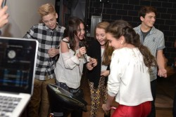 Ryan Newman - Nolan Gould's 16th birthday party 10/26/14