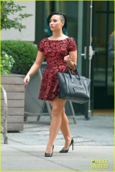 Demi Lovato - Leaving her hotel in NYC 10/28/14