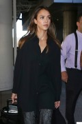 Jessica Alba Arrives at Los Angeles International Airport October 29-2014 x29