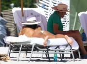Eva Longoria in bikini on the beach in Miami November 7-2014 x50
