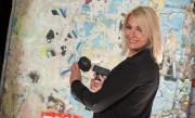 Franziska van Almsick - 25 Jahre Mauerfall Party von Bild in Berlin 08-11-2014