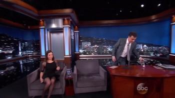 AUBREY PLAZA - Jimmy Kimmel - 11.11.14