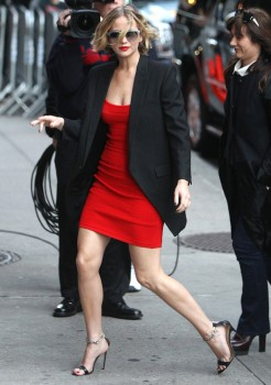 Jennifer Lawrence Going to and at the 'Late Show with David Letterman' in NYC 11/12/14 19