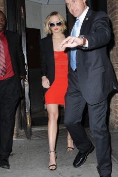 Jennifer Lawrence Going to and at the 'Late Show with David Letterman' in NYC 11/12/14 5