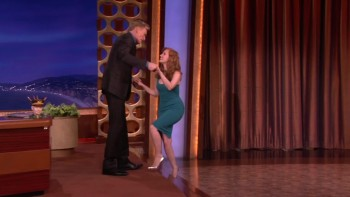 JESSICA CHASTAIN - TIGHT DRESS - Conan 11.12.14