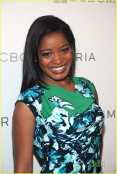 Keke Palmer leggy in pantyhose attends the BCBGMaxAzria Fall 2010 Fashion Show during Mercedes-Benz Fashion Week 2/10/10