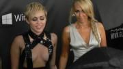 Miley Cyrus at amfAR Inspiration Gala in Los Angeles, October 29, 2014