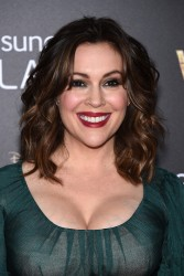 "Alyssa Milano - ""Into the Woods"" Premiere in NYC 12/8/14"
