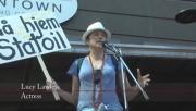 Lucy Lawless - Waiho Papa Moana Hikoi Protest 30.9.2014 (pokies) 1080p