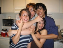 Milana Vayntrub Partying With Her Friends at the University of California, San Diego - 2007