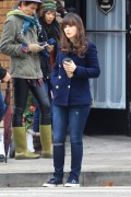 Zooey Deschanel filming a new episode of the hit FOX tv show 'New Girl' December 16-2014 x30