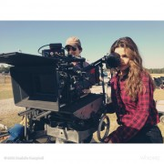 Danielle Campbell - On The Set Of Her New Movie 'Ride Of A Lifetime'