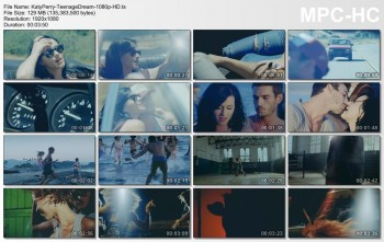 Katy Perry - Teenage Dream - Official Music Video - 1080p HD - Caps+Video