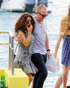Salma Hayek - On Vacations in St. Barts (12/24/14)