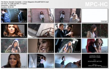 Danielle Campbell - LVLten Magazine BTS Video Shoot - 2014