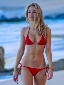Kimberley Garner In Bikini At A Beach In Caribbean