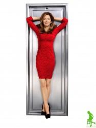 Dana Delany - L'Wren Scott Red Lace Dress