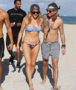 Ellie Goulding - Bikini Candids in Miami 1/5/15