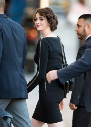 Anne Hathaway - Arriving at 'Jimmy Kimmel Live!' in Hollywood 1/5/15