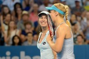 Martina Hingis and Sabine Lisicki Brisbane International 2015 final January 10-2015 x6