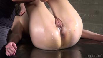 Orgasmic oily anal massage