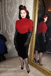 Dita Von Teese - Jean Paul Gaultier Haute Couture SS 2015 Fashion Show in Paris 1/28/15