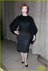 Christina Hendricks - Zac Posen Fall 2015 Fashion Show in NYC 2/16/15