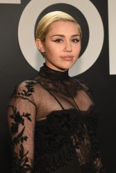 Miley Cyrus - Tom Ford Presents His Autumn/Winter 2015 Womens Wear Collection in LA 2/20/15