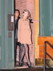 Taylor Swift - wearing sexy stockings to a late night dinner in NYC 02/17/2015