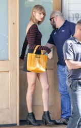 Taylor Swift - out in LA, tight top and short skirt 03/07/15