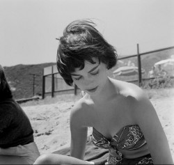Natalie Wood at The Thalians Beach Ball in Malibu on July 15, 1956