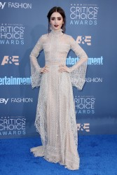 Lily Collins -  22nd Annual Critics' Choice Awards in Santa Monica 12/11/16